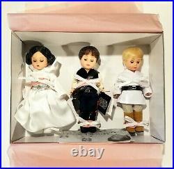 Madame Alexander Star Wars Set Leia, Luke Skywalker, Han Solo (2002, NRFB)