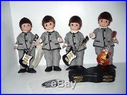 Madame Alexander The Beatles Rock Group 8 Doll Set With Box & 3 Guitars # 22110