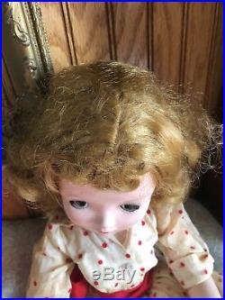Madame Alexander Vintage 1957 Cissy doll in original tagged Polka dot dress