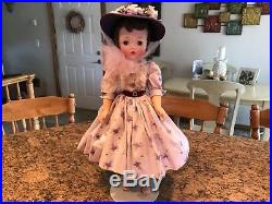 Madame Alexander Vintage 21 Cissy Doll 1958 Rare Purple Butterfly Outfit