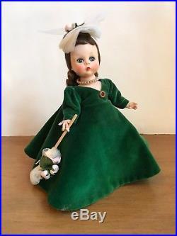 Madame Alexander Vintage GWTW Doll 1956 Very RARE Melanie in Green Velvet MINT