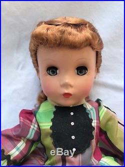 Madame Alexander Vintage-hard-plastic-little-women Jo Doll W Box & Curler-box