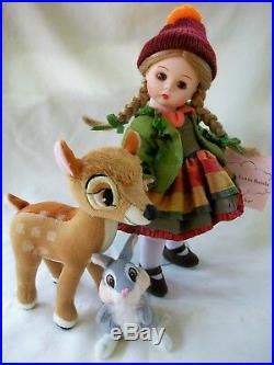 Madame Alexander WENDY LOVES BAMBI 8 Walt Disney Doll Set Very Rare MIB Doll