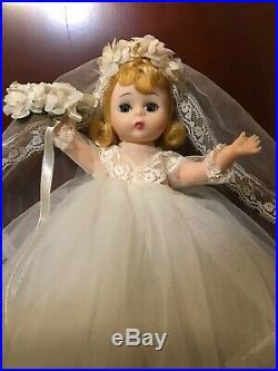 NEW IN BOX 1960s Vintage Madame Alexander Bent Knee Walker Wendy Bride doll 8