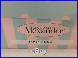 New! Madame Alexander Doll Emma #48215 Colonial Williamsburg Collection NRFB