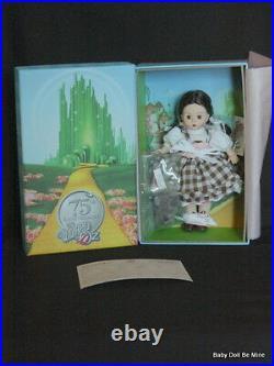New Madame Alexander Dorothy Arrives in Munchkinland 8 75 Annv Doll Wizard Oz