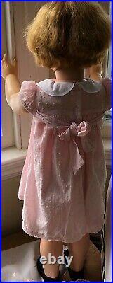 Original 1959, vintage flirty eyes Madame Alexander JOANIE doll, 36 LIFE size