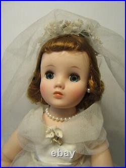 Original Beautiful Madame Alexander 15 1/2 Elise Bride Doll Tagged Dress