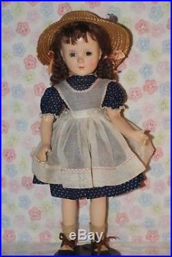 PRETTY! Vintage 17 Madame Alexander Margaret O'brien Composition Doll