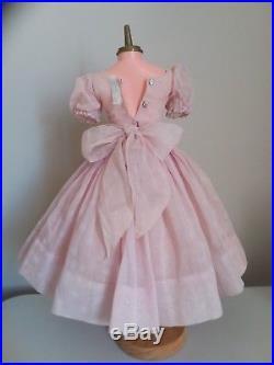 RARE 1956 cissy dress lavender organdy polka dot gorgeous + orig cissy slip