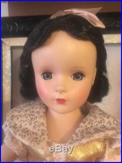 RARE MADAME ALEXANDER SNOW WHITE DOLL 1952 Orig Tagged DISNEY 14 Margaret Face