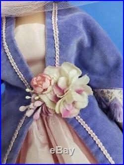 RARE Madame Alexander Purple Godey Cissy Pink Gown, Purple Velvet Jacket with Slip