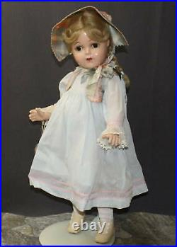 RARE-OUTSTANDING MADAME ALEXANDER VINTAGE COMPOSITION McGUFFEY ANA in Blue