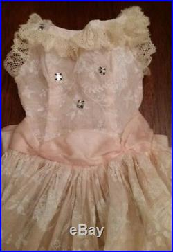 RARE! Sheer Pink Birdcage Sun Dress for Vintage MA Cissy Doll