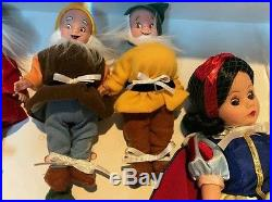 Rare Madame Alexander 10 Snow White & Seven Dwarves Doll Set #35520 New In Box