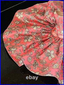 Rare Madame Alexander Cissy Doll BIRD BLUE PRINT POLISHED COTTON DAY DRESS