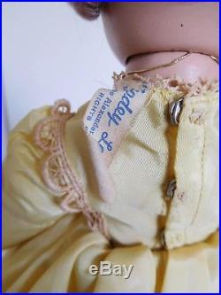 Rare! Vintage 1950's Alexander 14 Renoir Hard Plastic Margaret Face Tagged All