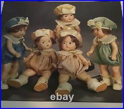 Rare/Vintage DIONNE QUINTS Dolls/1936 Madame Alexander Quintuplets 7Composition