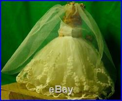 Rare/htf Xclnt Madame Alexander Vintage Cissette Bride #876 1958 Tag/orignal Box