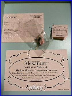 SHADOW MADAME POMPADOUR SUMMER Madame Alexander DOLL #119 of 350 LE