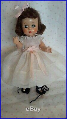 Sweet 1955 Vintage Madame Alexander Kins Brunette Alex Wendy SLW Tagged Dress