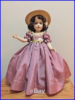 VINTAGE 18 Scarlett O'Hara 1937 by Madame Alexander, Original Dress
