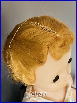 VINTAGE 1950s Madame Alexander CISSY DOLL Blonde 20 hard plastic TAGGED DRESS
