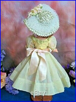 VINTAGE 1950s Madame Alexander CISSY DOLL red hair 20 in TAGGED DRESS hat purse