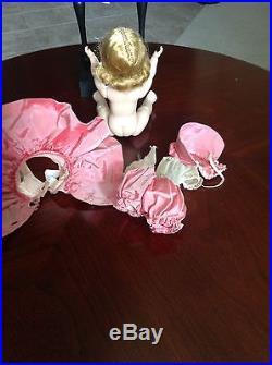 VINTAGE 1953-54 Madame Alexander kin SLW Pink Taffeta and Bonnet