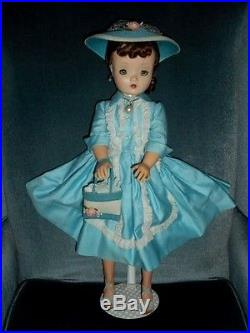 VINTAGE CISSY STUNNING BRUNETTE DOLLTAGGED 2130 DRESS WithSLIP PANTIES/HOSE/ACCES