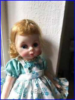 VINTAGE MADAME ALEXANDER KIN WENDY # 341 Doll, pinafore, Hat. Christmas idea