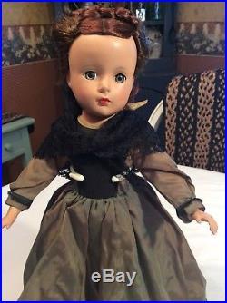 VNTG 14 Madame Alexander Little Women MARME strung doll, MA tagged dress