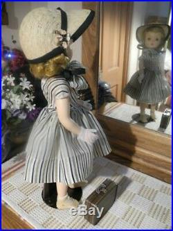VTG 18 Blonde Binnie Walker Doll Madame Alexander ORIG Wig Panties & Shoes, Hat