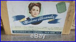 Vintage 1940s Madame Alexander Margaret O'Brien 14.5 Doll W Original Clothing