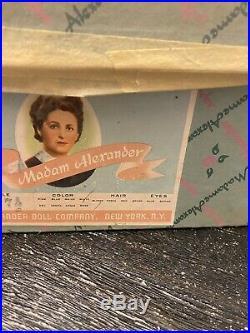 Vintage 1950's Madame Alexander 18 CISSY faced VIOLET doll used box RARE