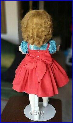 Vintage 1950's Madame Alexander 24 Hard Plastic Winnie Walker Doll Cissy Face