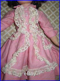 Vintage 1950's Madame Alexander ELISE Tagged Dress 16 Doll Kitten Heels