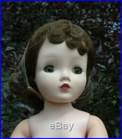 Vintage 1950s Madame Alexander 20 Cissy Doll Blue Eyed Brunette