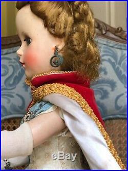 Vintage 1953 Madame Alexander Queen Elizabeth Coronation Doll, With Cape