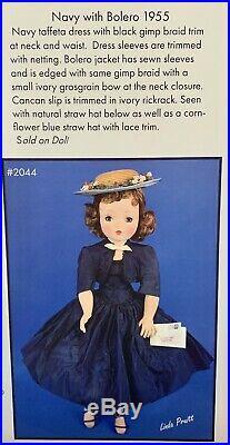 Vintage 1954-55 Madame Alexander Cissy Doll In #2044 Navy With Bolero (1955)