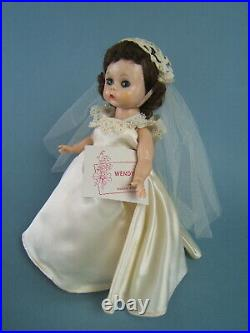 Vintage 1955 Mme Alexander-Kins Wendy SLW Bride Doll withHang Tag