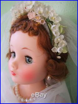 Vintage 1957 Mme Alexander ELISE Bride Doll AO with Hangtag in Box