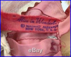 Vintage 1959 Madame Alexander Alice in Wonderland Doll 17 RARE DRESS TAGGED