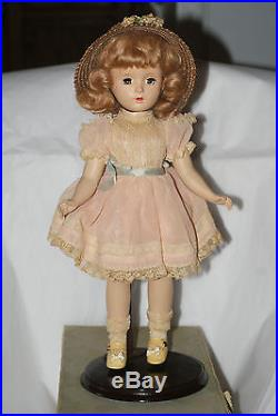 Vintage All Original 14 Hard Plastic Margaret O'Brien Doll In Original Box