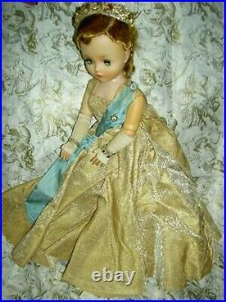 Vintage CISSY, Mme. Alexander 21, tagged Queen Elizabeth doll #2281 all orig