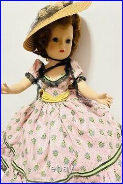 Vintage MARGARET 1953 GLAMOUR GIRL PICNIC DAY Madam ALEXANDER 18 RARE BEAUTY