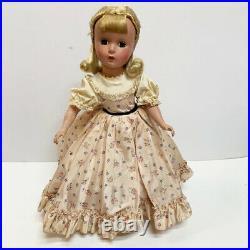 Vintage Madame Alexander 14 HP Little Women 1955 Amy Doll Taffeta Dress