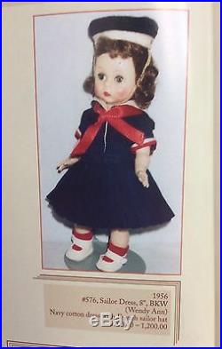 Vintage Madame Alexander 1956, Wendy First Sailor Dress #576 HP BKW