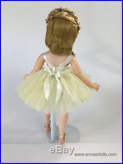 Vintage Madame Alexander 1957 Elise Doll Simple Satin Ballerina