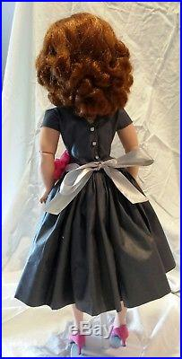 Vintage Madame Alexander Auburn red haired Cissy Doll, Blue Eyes with outfit